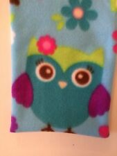 FUN OWLS FLEECE MICROWAVE LAVENDER SQUARE WHEAT BAG FOR PAIN RELIEF WARMER