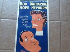 "Katharine Hepburn  Bob Hope 1956 ""Iron Petticoat"" Poster Insert Beautiful Color"