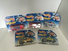 5 of the 6 Mattel hotwheel Haulers collection 65743-82 from 1998-99