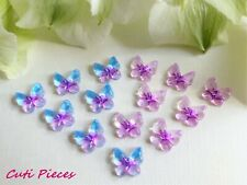 "3D Nail Art ""Butterflys"" Purple Blue Fade Effect Flat-back Embellishments Craft"
