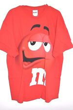 New M&M's Candy Silly Face Red Adult T-Shirt