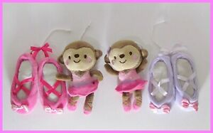 Ballerina Monkeys with Slippers Baby Crib Mobile plushies cute L@@K