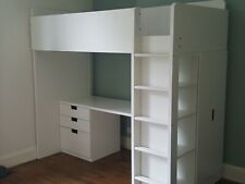 Ikea Stuva loft bed with desk and wardrobe