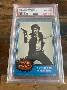 1977 Topps Star Wars #58 - Han Solo - Harrison Ford - Rookie Card - PSA 📈