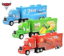 3X Disney Pixar Cars Mack Lightning McQueen & Chick Hicks & King Truck Car Loose