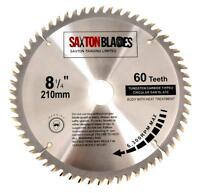 Saxton TCT Circular Saw Blade 210mm x 60T for Bosch Makita Dewalt fits 216mm
