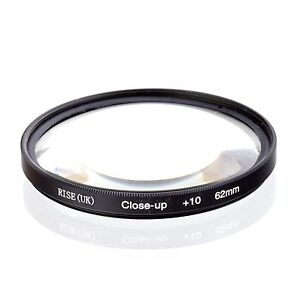 62mm +10 High Definition Close Up Macro Lens Sony Canon Nikon DSLR + FREE Pouch