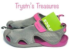 Womens Crocs Swiftwater Mesh Sandal Size 5, 10, 11 SMOKE New with Tags