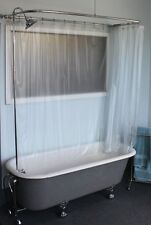 CLAWFOOT TUB ADD A SHOWER RX2300J JUMBO WITH SHOWER RINGS AND JUMBO SHOWER HEAD