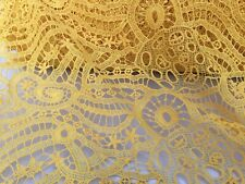 sewing dress fabric 0.50m /'Golden Times/' Guipure Net lace