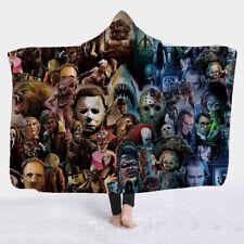 Horror Movie Character Hooded Blanket Cloak Sherpa Fleece Wearable Throw Bedding