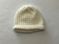 Cream White Baby Hat Handmade Crochet Toddler (1-3) boy girl shower gift beanie