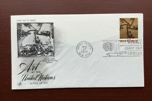1972 ART AT THE UNITED NATIONS UNITED STATES COVER