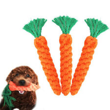 Hot Carrot Pet Dog Toy 20cm Long Braided Cotton Rope Puppy Chew Toys Rabbit New
