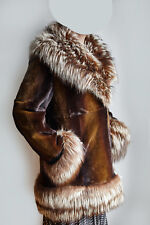 Abrigo de visón rasado y zorro