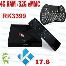 2018 X99 Android 7.1.2 TV BOX RK3399 4GB RAM 32GB ROM With Voice remote KD17 UK