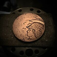 New ListingHand Engraved Large British Cent Love Token - Hobo Nickel