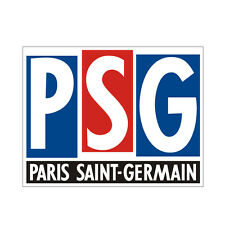Sticker plastifié PSG mod.2 Paris Saint Germain FOOT - 10cm x 8cm