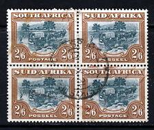 SOUTH AFRICA 1949 2/6d. Green & Brown Rotogravure Block SG 121 VFU