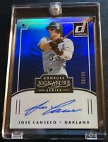 2016 JOSE CANSECO DONRUSS SIGNATURE BLUE AUTO #SGS-JC ATHLETICS 30/49 (717)