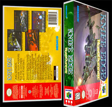 Knife Edge Nose Gunner  - N64 Reproduction Art Case/Box No Game.