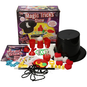 Magic Tricks Show Set Magician Kids Children Plastic Hat Rabbit Present NEW