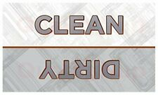 Clean Dirty Dishwasher Magnet - Premium High Quality - 30 MIL - Rounded Corners