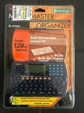 Sharp MemoMaster Electr Organizer El6790P Calendar Clock Address Book Notes Calc