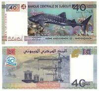DJIBOUTI 40 FRANCS COMMEMORATIVE 2017 P-46 UNC - Banknotes Paper Money