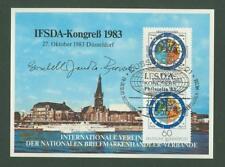 Block G62 Special sheet 1983 canceled Germany Philately