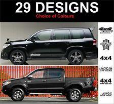 TOYOTA 4x4 decals LandCruiser Rav4 4 Runner Hilux Tacoma t100 2 off stickers