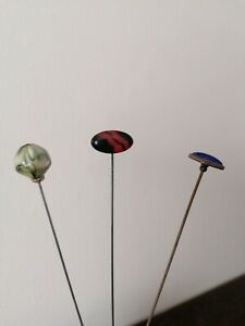 Victorian Hat Pins Set Of Three antique
