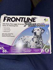 Frontline Plus Flea and Tick Dog Treatment - 45-88 lb, 4 Doses