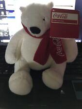 "COCA-COLA Polar Bear 9"" Plush Stuffed Animal 2013 Collectible NWT Coke"