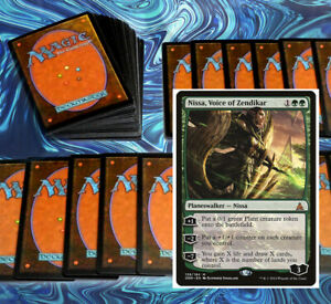 mtg GREEN AGGRO DECK Magic the Gathering rares 60 cards nissa dungrove elder
