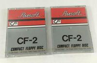 """Lot de 2 Amsoft 3"""" CF-2 Discs Disquettes pour Amstrad PCW et ZX Spectrum Neuves"""