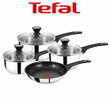 Tefal Essentials 4 Piece Stainless Steel Pan Set w/ Non-Stick Fry Pan, Induction