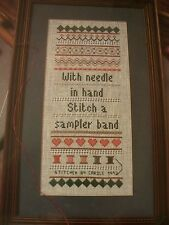 Banded Sampler PULLED THREAD STITCHES OOP Magazine Cross Stitch PATTERN (M)