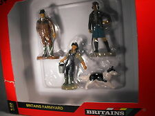 BRITAINS FARMS  FARMING FAMILY AND DOG SCALE 1:32 FARMER AND FAMILY FIGURES