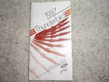 87 Ford Thunderbird Owners Manual Guide