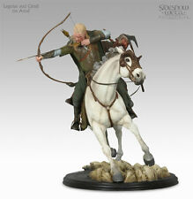 LOTR: Sideshow Weta: LEGOLAS AND GIMLI ON AROD statue - RARE (sauron/gandalf)