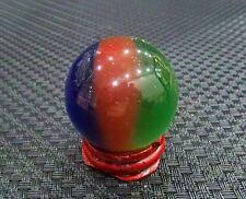 Three color hot sell Asia quartz cat's eye crystal healing ball ball 40 mm