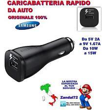 CARICABATTERIA RAPIDO ORIGINALE DA AUTO GALAXY S6 S7 EDGE NOTE 5 FAST CHARGING