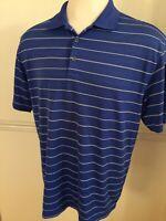 Men's Nike Golf Dri Fit Polo Shirt Short Sleeve S/S Blue White 358325 XL Stripe
