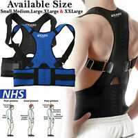 Adjustable Back Belt Support Lumbar Shoulder Brace Magnetic Posture Corrector UK