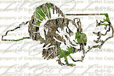 Camouflage Camo North Carolina Turkey Hunter Hunting Vinyl Decal Sticker Gobbler