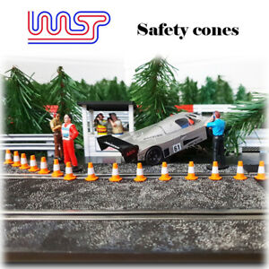 WASP 3D printed safety cones 15mm 20 pack, track side 1/32 scale