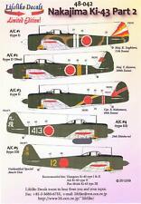 Lifelike Decals 1/48 NAKAJIMA Ki-43 HAYABUSA OSCAR Fighter Part 2