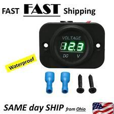 12-24V Car Marine Motorcycle LED Digital Voltmeter Voltage Meter Battery Gauge