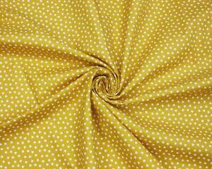 Ditsy Heart Cotton Poplin (Miustard) – per half metre